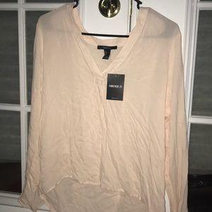 Sheer Light Pink Shirt! (Size L)